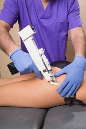 mesoterapia inyectada: infiltración de vitaminas con pistola