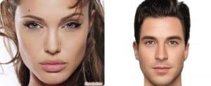 Rasgos de mujeres y hombres atractivos